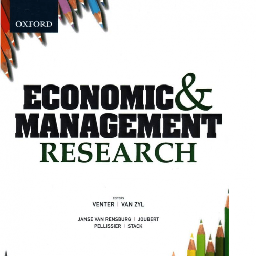 Economic and Management Research 1ed