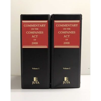 Commentary on the Companies Act of 2008