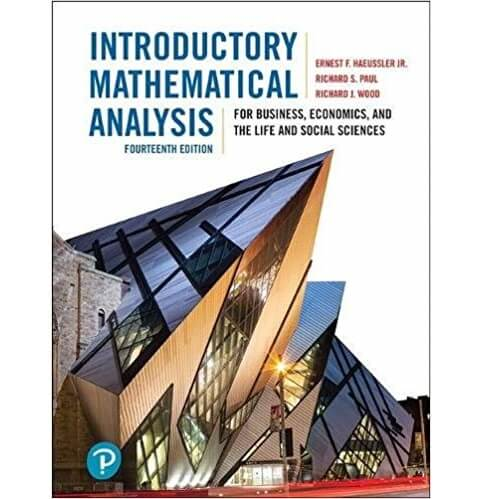 Introductory Mathematical Analysis 14th edition
