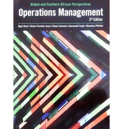 Operations Management: Global & SA Perspectives
